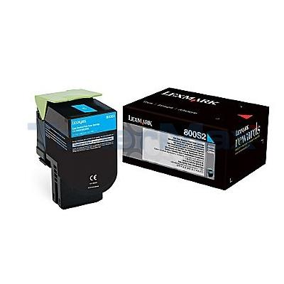 LEXMARK CX310 TONER CARTRIDGE CYAN 2K